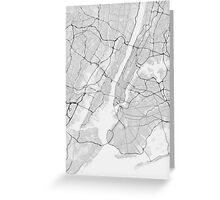 New York, USA Map. (Black on white) Greeting Card