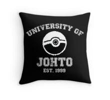 University of Johto - White Font Throw Pillow