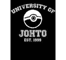 University of Johto - White Font Photographic Print