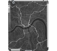 Cincinnati, USA Map. (White on black) iPad Case/Skin