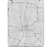 Columbus, USA Map. (Black on white) iPad Case/Skin