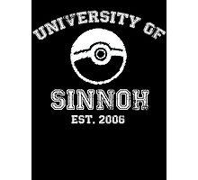 University of Sinnoh - White Font Photographic Print