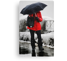 The Red Coat Canvas Print