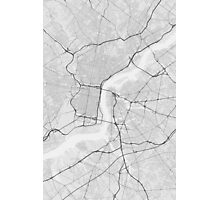 Philadelphia, USA Map. (Black on white) Photographic Print