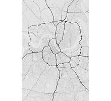 Nashville, USA Map. (Black on white) Photographic Print