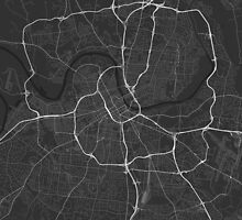 Nashville, USA Map. (White on black) by Graphical-Maps