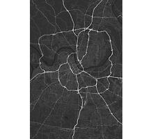 Nashville, USA Map. (White on black) Photographic Print