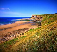 Hunt Cliff and Saltburn Beach, North Yorkshire, North East England by Ian Alex Blease