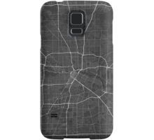 Houston, USA Map. (White on black) Samsung Galaxy Case/Skin