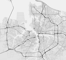 Norfolk, USA Map. (Black on white) by Graphical-Maps