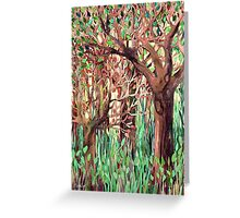 Lost in the Forest - watercolor painting collage Greeting Card
