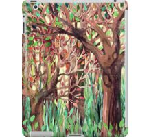 Lost in the Forest - watercolor painting collage iPad Case/Skin