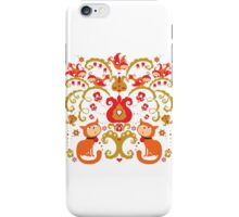 Rissian Kitties and Birds Love Tree. iPhone Case/Skin