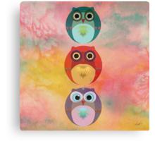 Three Little Owlets Canvas Print