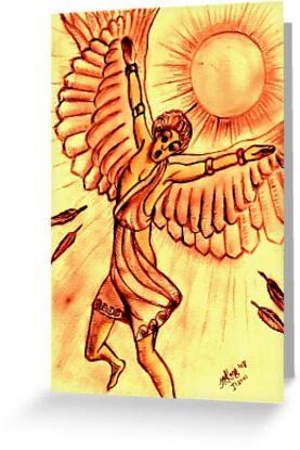 Mythology: Icarus (Greek Myth. Figure) by Mariaan M Krog Fine Art Portfolio