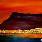 Cape Town - Hot Sunset by Mariaan M Krog Fine Art Portfolio