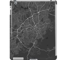 Belo Horizonte, Brazil Map. (White on black) iPad Case/Skin