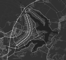 Brasilia, Brazil Map. (White on black) by Graphical-Maps
