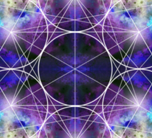 Metatron's Cube blue Sticker