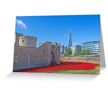 Poppies in the Moat Greeting Card