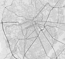 Curitiba, Brazil Map. (Black on white) by Graphical-Maps