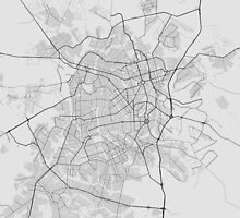 Goiania, Brazil Map. (Black on white) by Graphical-Maps