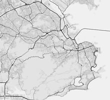 Rio de Janeiro, Brazil Map. (Black on white) by Graphical-Maps
