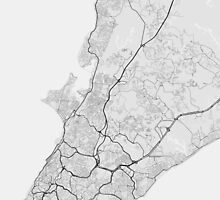 Salvador, Brazil Map. (Black on white) by Graphical-Maps