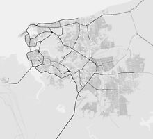 Sao Luis, Brazil Map. (Black on white) by Graphical-Maps