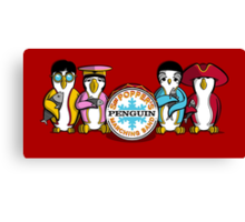 Sgt Poppers Penguin Marching Band Canvas Print