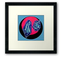 blue quartz Framed Print