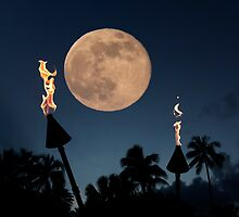 Romantic Super Moon by Alex Preiss