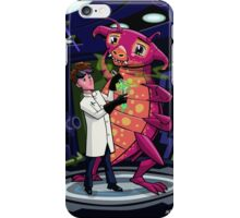 Manga professor with nice Pink Monster Experiment iPhone Case/Skin