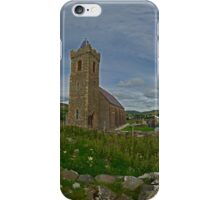 Glencolmcille Panorama with Church iPhone Case/Skin