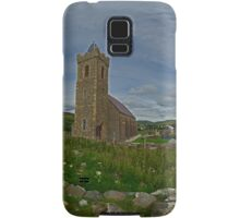 Glencolmcille Panorama with Church Samsung Galaxy Case/Skin