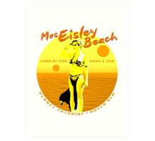 Mos Eisley Beach Art Print