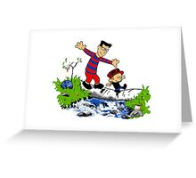 Little Viking and Strong Man Greeting Card