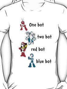 One bot, two bot, red bot, blue bot T-Shirt