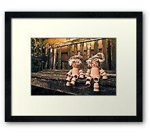 Flowerpot Men Framed Print