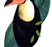 Toucan Watercolor Cutout by Toucano