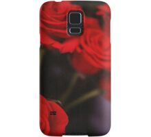 Analog photo of bunch bouquet of red roses Samsung Galaxy Case/Skin