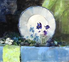 Blue Plate Special oil 16 x 12 by Chris Saper