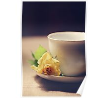 Tea Time and Roses Poster