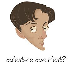 """David Byrne's Talking Head Caricature """"Qu'est-ce Que C'est?"""" by drumok"""