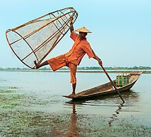Dawn Fisherman. by bulljup