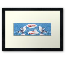 Philosophical Seagulls Great Minds Think Alike Framed Print