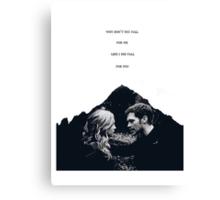 "TVD - Klaroline ""Fall for you..."" Canvas Print"