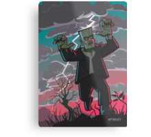 frankenstein creature in storm  Metal Print