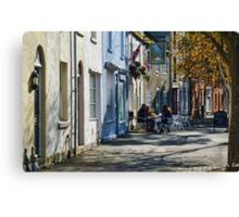 Street Scene In Bridport Dorset, UK Canvas Print