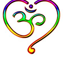 OM Heart, Mantra, Symbol Love & Spirituality, Yoga by nitty-gritty